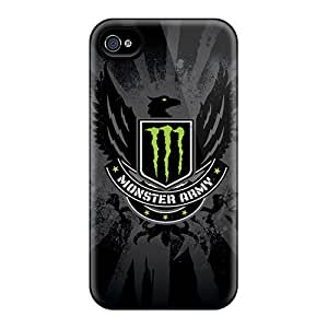 Hot Design Premium WKrxc7341Pdvqr Tpu Case Cover Iphone 4/4s Protection Case(monster Army)