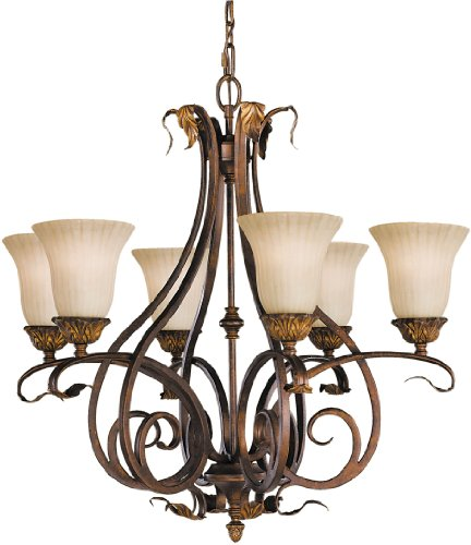 (Murray Feiss F2076/6ATS Sonoma Valley Chandeliers Lighting, 28.75