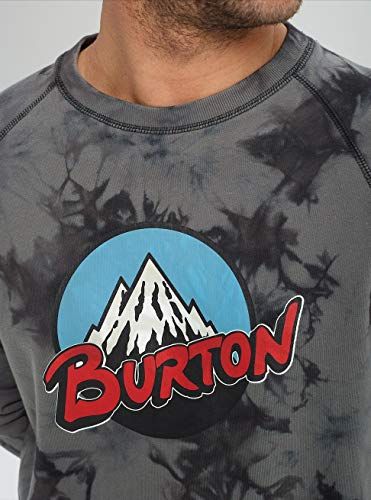 Mountain Hombre Dye phantom Organic Gris Retro Sudadera Tie Crew Burton 1qwS5ZxXn