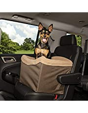 PetSafe Happy Ride Dog Safety Seat for Cars, Trucks and SUVs - Jumbo Pet Size - Seat Belt Tether - Machine-Washable Liner, Cover and Cushion - Brown