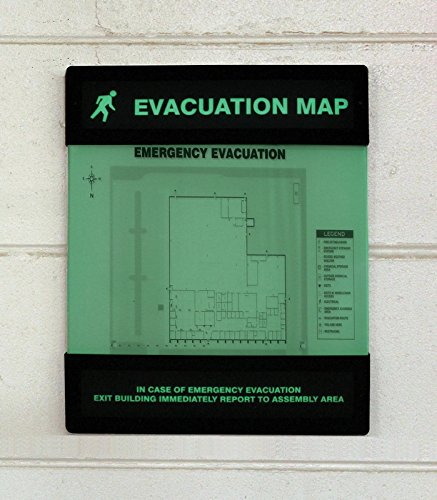 Evacuation Map Holder, 11 in. x 17 in. ()