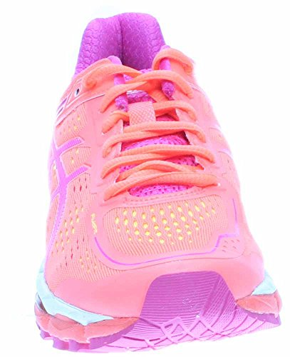 ASICS Frauen GEL-Kayano 22 Laufschuh Koralle / Pink Glow / Flash Gelb