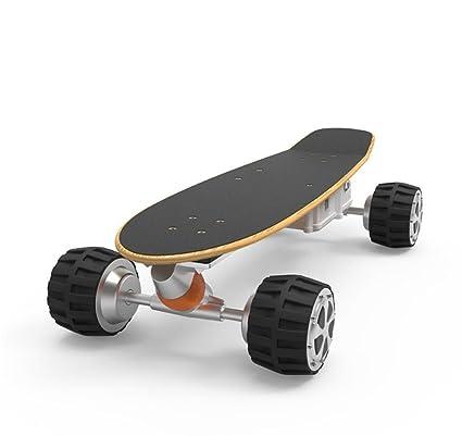 Monopatín eléctrico de cuatro ruedas Monopatín inteligente de cuatro ruedas Mono inteligente de control remoto de APP Tipo todoterreno ...
