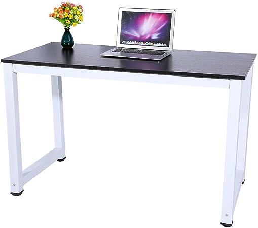 Estilo moderno mesa de ordenador mesa pc portátil negro de madera ...