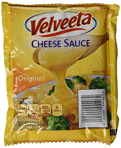 *New* Lot of 4 VELVEETA Toppers * Cheese Sauce Pouch (Four -1/4 lb. pouches)- Use for Veggies, Chips, Fondue, Pasta, & More! (Cheese Pasta Sauce compare prices)