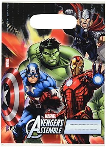 Avengers - Pack de 6 bolsas de fiesta (Procos 6884652): Amazon.es ...