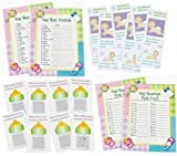96 pc Baby Shower Game bundle (Word scramble, Baby Necessities, Scratch Tickets, Diaper Raffle Fund tickets) Enough for 24 guest