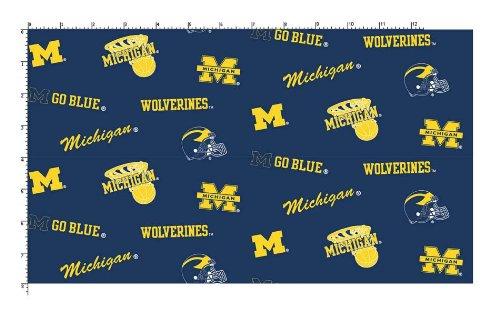 University of Michigan Fine Cotton Classic Colored Ground ()