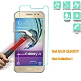 Samsung Galaxy J3 / Galaxy J3 (2016) Tempered Glass Screen Protector, SAUS 0.3mm Ultra Thin 9H Hardness 2.5D Round Edge Featuring Anti-Scratch, Anti-Fingerprint, No-Bubble Easy Install (1 Pack)