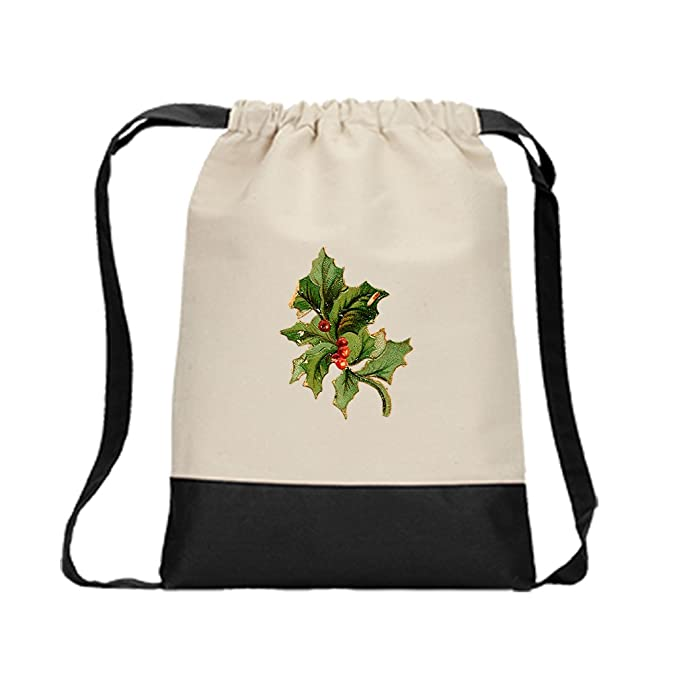 062d33280dc5 Backpack Color Drawstring Evergreen Holly Vintage Look  24 By Style In  Print