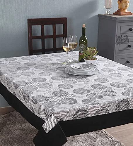 Lushomes 6 Seater Small Geometric Printed Table Cloth
