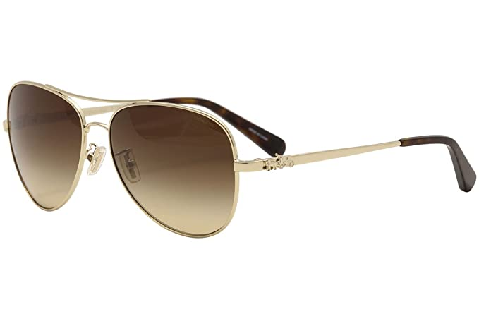 d9f4f0418e65 Coach HC 7074 PALE GOLD/BROWN SHADED women Sunglasses: Amazon.ca ...
