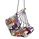A & E Comfortable Multi Color Cotton Swing for Kids babys childrens folding and washable 1 -4 years