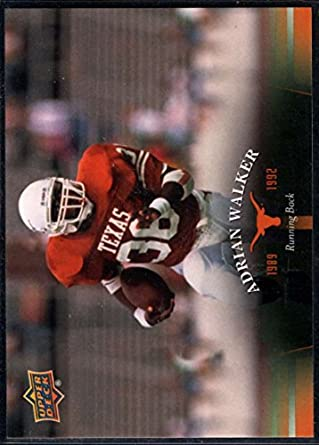 Amazon.com: Football NFL 2011 Upper Deck University of Texas #55 Adrian Walker: Collectibles & Fine Art