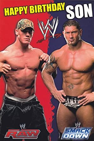 Wwe wrestling son birthday card amazon kitchen home wwe wrestling son birthday card bookmarktalkfo Image collections