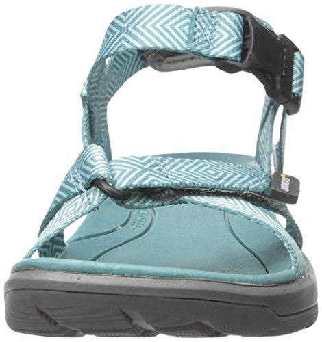Bogs Damen Rio Stripes Athletic Sandale Türkis / Multi