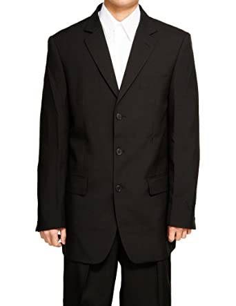 New Men's 3 Button Single Breasted Black Dress Suit at Amazon ...