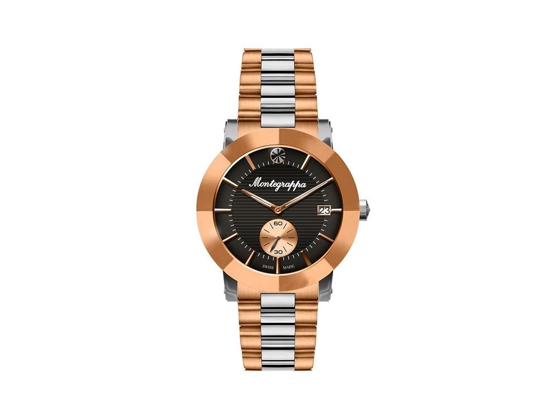 Montegrappa Nero Uno ladies quartz watch、ローズゴールドPVDブラックダイヤル B075G29TD2