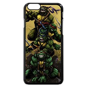 diy zhengUniqueBox Customized Black Hard Plastic Teenage Mutant Ninja Turtles(TMNT) Ipod Touch 4 4th Case, Only fit Ipod Touch 4 4th ( )