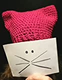 READY TO SHIP - Pussycat Pussy hat cat kitty hat - Free shipping - FUSCHIA READY 2 GO - beanie - women - teen girl - march, protest, Relay for Life, handmade crochet knit