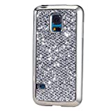 Samsung Galaxy Note 4 Case, KSHOP Ultra Thin TPU Silicone Bumper Case Cover with [Electroplating Technology] Bling Glitter Soft Gel Back Case Cover for Samsung Galaxy Note 4-Black