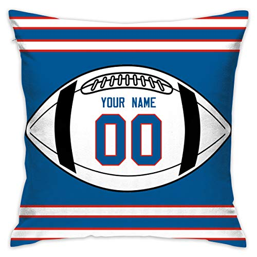 JHBFJHKP-Y Buffalo Bills Pattern Cushion Covers Decorative Throw Pillows for Sofa 20x20 Inches Pillow ()