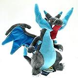 Newly Pokemon Center Plush Doll Original Mega Charizard X Gorgeous Toy Gift