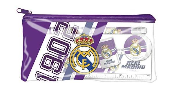 Estuche portatodo con material escolar de Real Madrid (2/36): Amazon.es: Juguetes y juegos