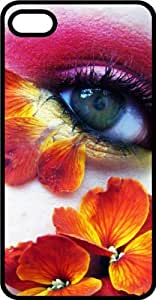 Flowery Eye Tinted Rubber Case for Apple iPhone 5 or iPhone 5s