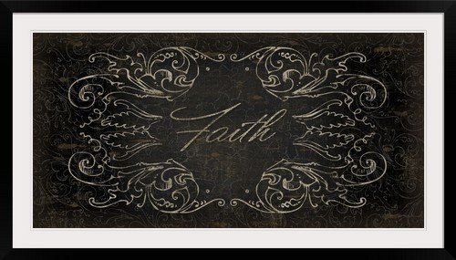 GreatBIGCanvas ''Peace & Faith II'' by Sparx Studio Photographic Print with Black Frame, 48'' x 24'' by greatBIGcanvas