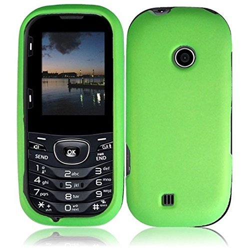 For LG Cosmos 3 VN251S Cosmos 2 VN251 Rubberized Hard Cover Case Neon Green Accessory