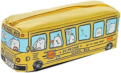 Reizender kreativer Bus-Bleistift-Briefpapier-Beutel-Feder-Fall-Bleistift-Kasten für Schule/Büro, Gelb