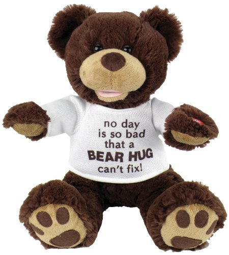 "Chantilly Lane 11″ Huggy Bear with T-shirt Sings ""So You Had a Bad Day"""