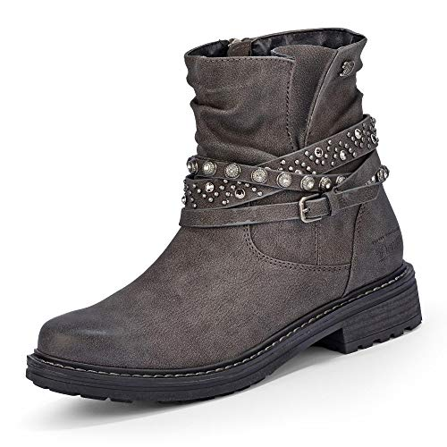 00013 Gris Botines Femme 5895204 coal Tailor Tom wTqS4xUq