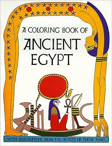 Ancient Egypt Coloring Book: Bellerophon Books: 9780883880050 ...