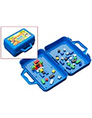 ModFamily My Brick Case - Portable Storage Box for Kids Building Bricks - Comes with Play Surface for Storing and Building Bricks On-The-Go - Toys for Boys & Girls