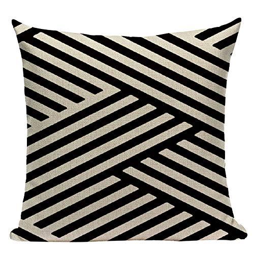 TRASWOYS Throw Pillow Case Funda de Almohada Geometría ...