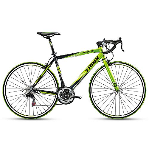 Cycling bikes. Trinx TEMPO1.0 700C Road Bike Shimano 21 Speed Racing Bicycle (Black/Green)