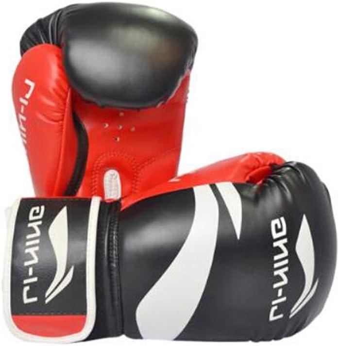 HXSD ボクシンググローブ自営業の大人用三田選手の対決ボクシングセットテコンドートレーニンググローブ 柔らかくて快適な手袋、 黒 10oz