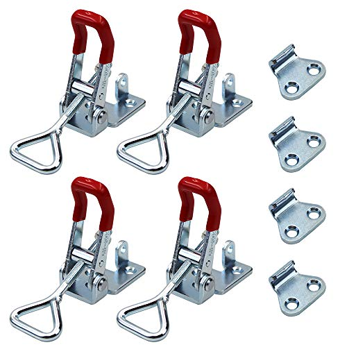 Adjustable Toggle Clamp, 4Pack 550lbs Holding Capacity Heavy Duty 4002 Style Toggle Latch Hasp Clamp ()