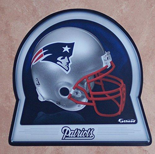 "New England Patriots FATHEAD Team Helmet Logo Official NFL Vinyl Wall Graphic 16""x15"" INCH"