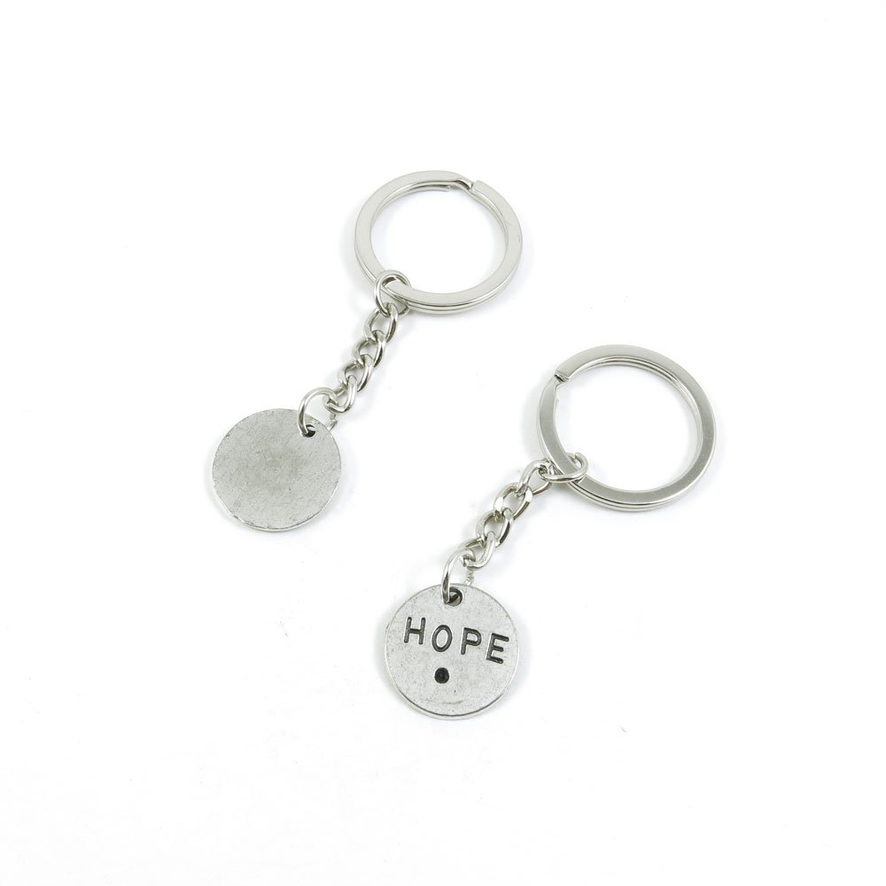 40 Pieces Keychain Door Car Key Chain Tags Keyring Ring Chain Keychain Supplies Antique Silver Tone Wholesale Bulk Lots R5LA3 Hope Signs