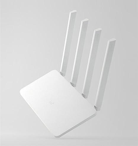 Xiaomi Router 3C, Ollivan Mi Router Dual band Inalámbrico Wifi Router 4 Antenas N300 Mbps 64MB 2.4GHz Versión mundial blanco (Router 3C): Amazon.es: ...