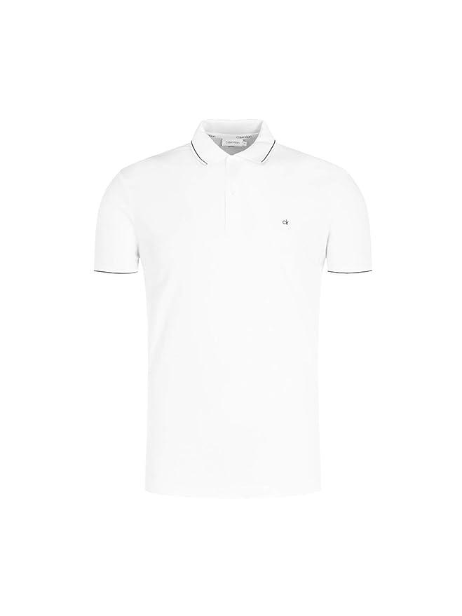 Calvin Klein Soft Interlock Tipping Slim Polo: Amazon.es: Ropa y ...
