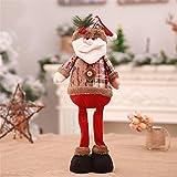 HSQM Christmas Decorations Santa Claus Snowman elk Standing Posture Decoration