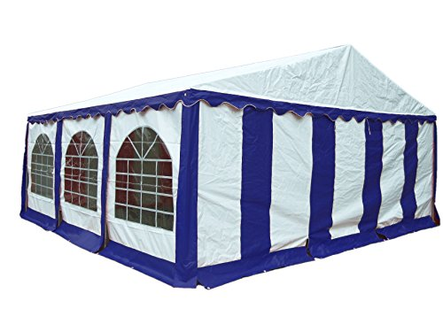 ShelterLogic 25928 Enclosure Kit with Windows for Party Tent 20×20 ft / 6×6 m, Blue/White, (Frame and cover Model #25918 Not included)