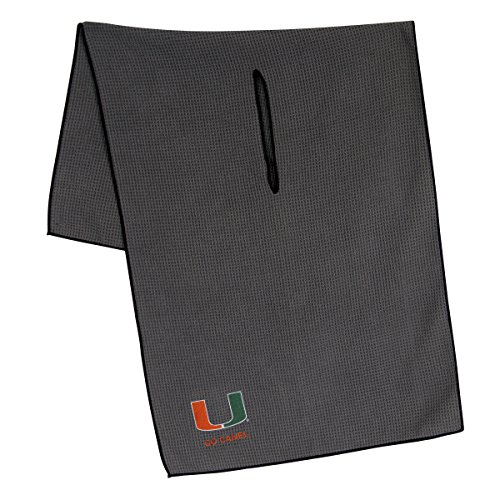 Team Effort Miami Hurricanes Grey Microfiber Towel