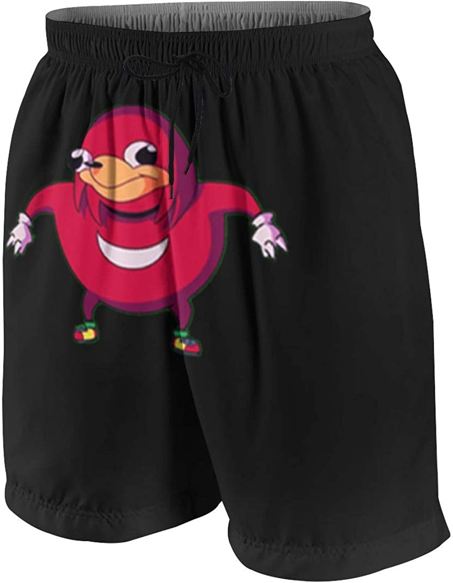 Hkany Ugandan-Knuckles Teenager Boys Beachwear Beach Shorts Pants Board Shorts