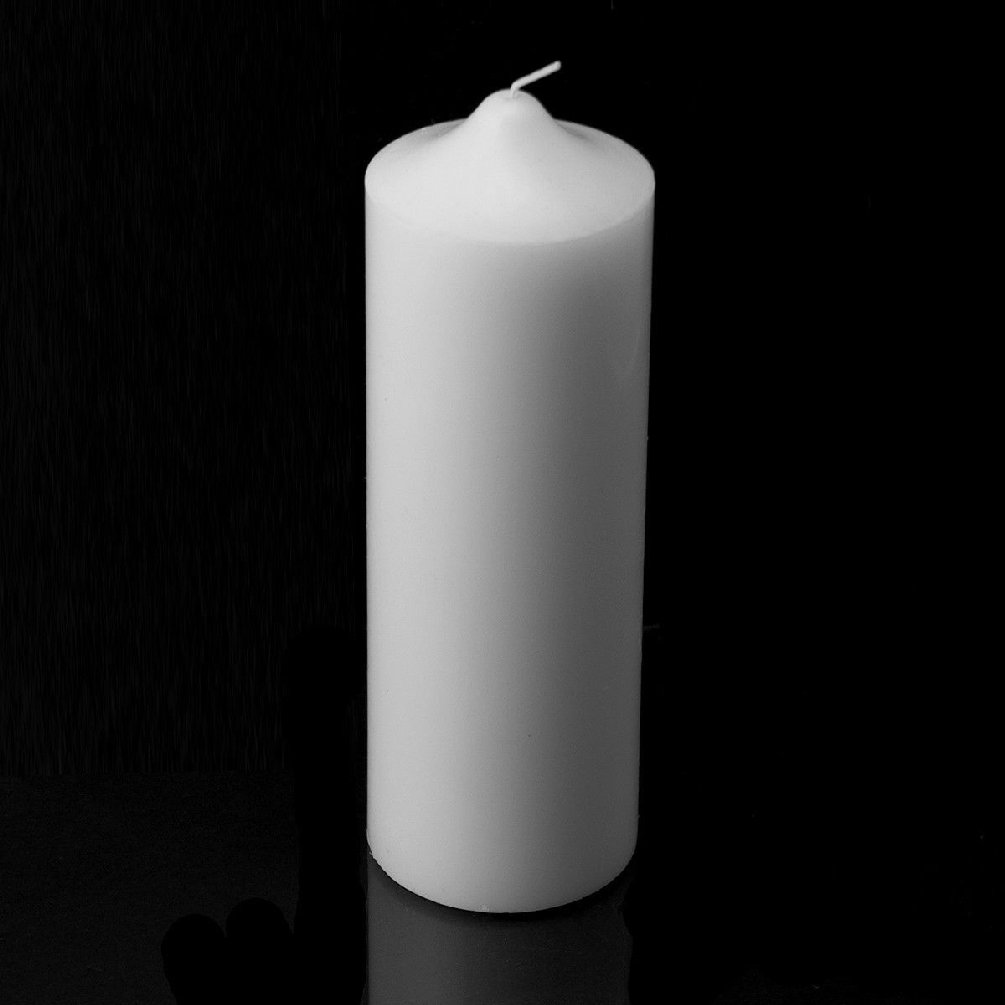 Set Of 12 White Unscented 3'' X 9'' Pillar Candles Weddings Events Home Decor