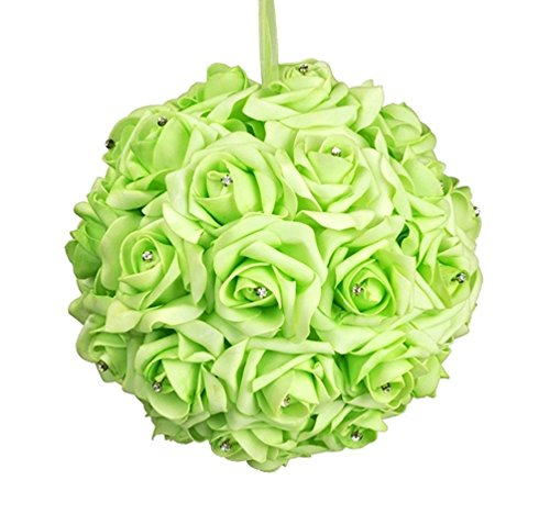 Galt International 10-Inch Green Flower Pomander Kissing Ball, (Green Kissing Ball)